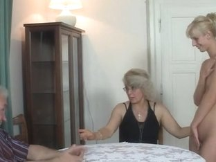 GF in three-some with bf's parents