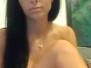 dark brown hair dancing and masturbating