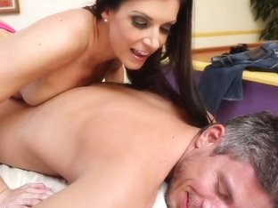 India Summer gives a nasty massage to Mick Blue
