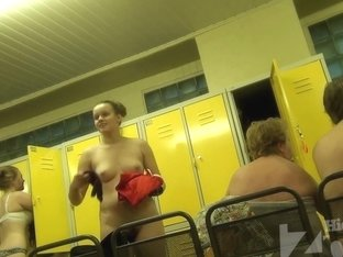 Matures with pretty tits talking in the dressing room