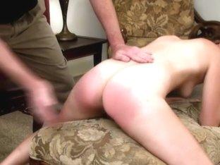 spanked naked