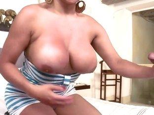 Brutal busty whore Sandra fucks demonstrating her sexual skills