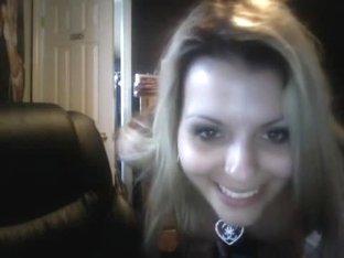 Busty teen with a dildo webcam video