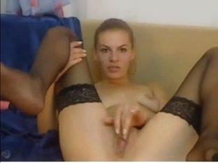Hot russian webcam girl fucking high heel