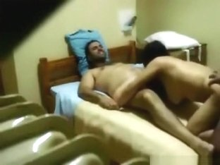 Sneaky bastards tape themselves fucking a latina slut with double penetration