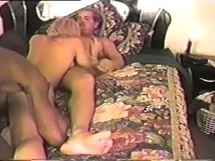 Concupiscent wife receives gangbanged by dark penis.