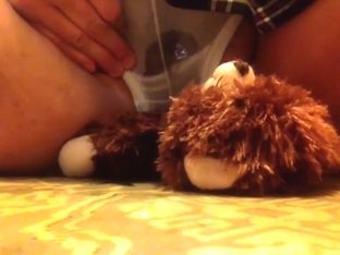 desperate with my teddy bear