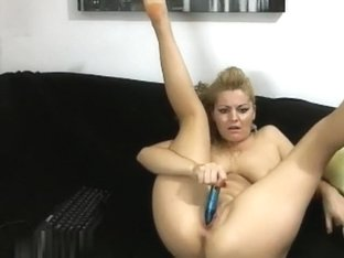 Oiled up tits on a blondie
