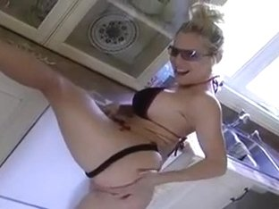 Blond mother I'd like to fuck acquires her wet crack fingered and fucked.