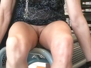 I love that this granny isn't afraid to show her pierced pussy