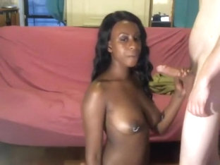 black girl sucks white cock