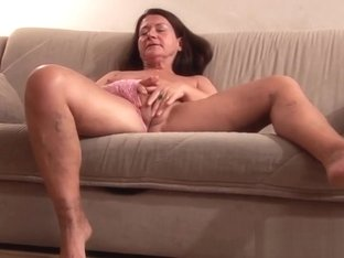 German Granny gets a huge dildo