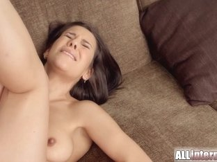 Allinternal sexy brunette shows her anal creampie