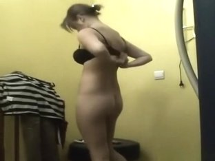 Woman with nice pair of tits and trimmed pussy
