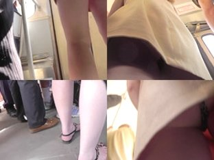 Skinny-ass gal filmed in a bus in upskirt mov
