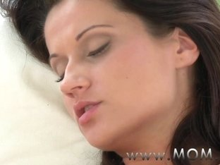 MOM Brunette suck and fucks a fat cock