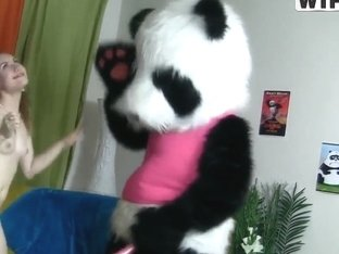 No one mes up with crazy hard on panda