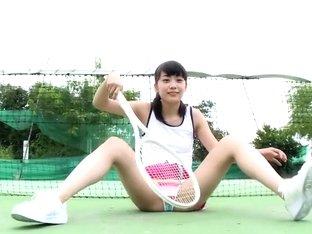 Cute Japanese teen shows her goods