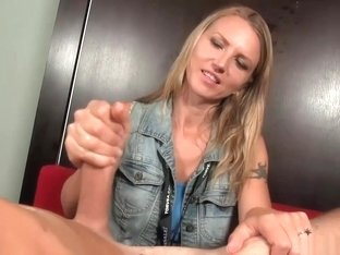Milf's Killer Grip Makes Lucky Guy Spurts