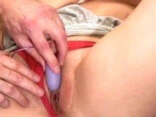 HandsOnOrgasms Video: Masie Dee Closeup Purple Vibe