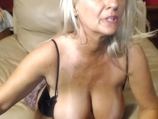 Nasty 47 year old slut teasing on webcam, part 5