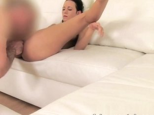 Hot Czech girls tight shaven pussy proves too much for agent