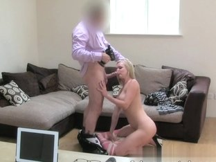 Husband cheating MILF is back for more casting couch action
