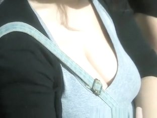 Big natural tits girl big cleavage