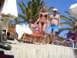 Hot woman at greek beach