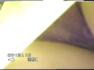 A lucky spy street cam catches some see-through undies