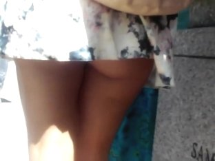 Skirt stuck on the backpack