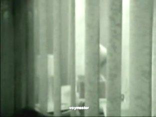 Secret peep through the window and voyeuring erotic moments