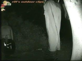 Sexy girl peeing video by a hidden night public camera
