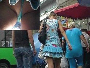 Rainy day hawt teenie up petticoat