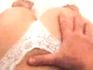 Homemade video showing my wife in hot lingerie swallowing my dick