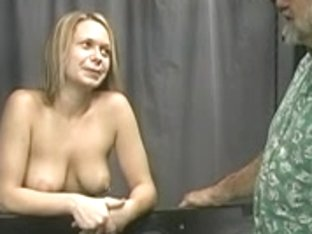 Boyfrend binds cute golden-haired's wrists and show her who's boss.