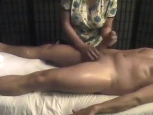 Cheating wife gives best handjob with happy ending