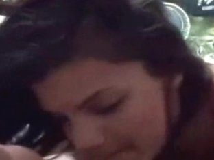 Short-haired brunette blowing and fucking like crazy