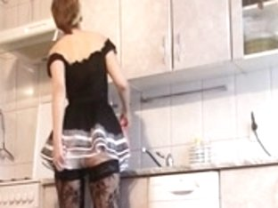 French maid in nylons