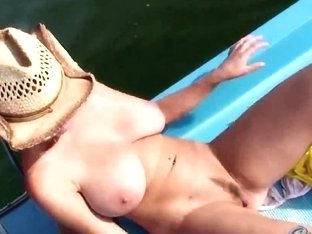 Katrin Kozy stripped on boat