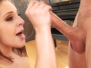 Gracie Glam gets her mouth stuffed with hard cock