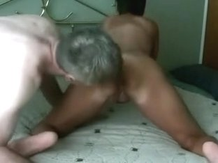 busty granny fucked doggy and creampied