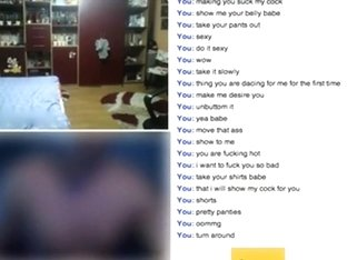 Pigtailed romanian girl has cybersex with a stranger on omegle