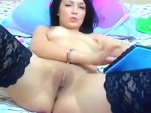 Russian model Anxunamun spread her legs and showed her vagina