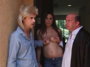 Horny pornstars Ella Milano and Sasha Sweet in fabulous blonde, blowjob sex movie