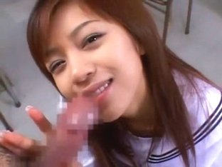 Crazy Japanese model Youming Uehara in Amazing College/Gakuseifuku, Facial JAV video