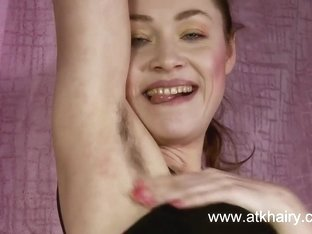 Irene puts on a great hairy masturbation