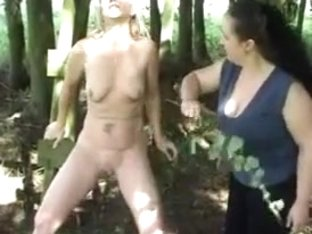 Forest pussy whipping
