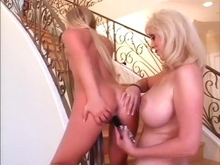 Crazy pornstars Riley Roberts and Diane Diamonds in best dildos/toys, big tits porn scene