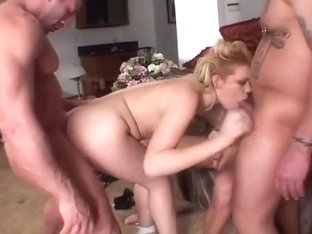 Gia Paloma gets into a rough threesome with two hot beef cakes
